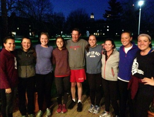 My friends and I on our run with President Hodge