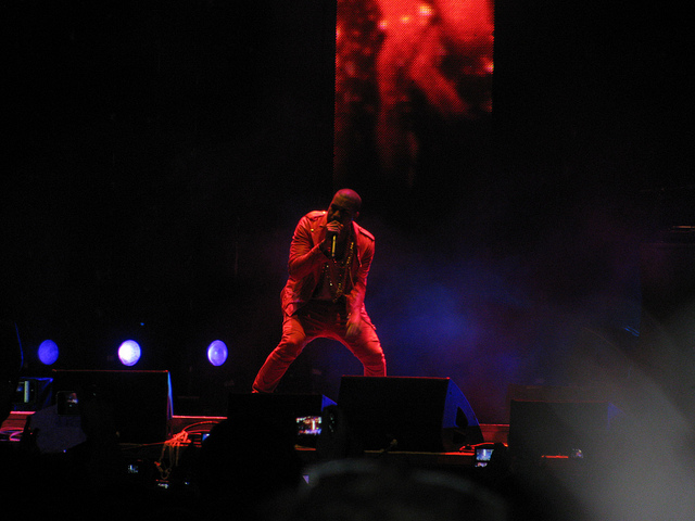 Kanye West in concert   Image via Creative Commons
