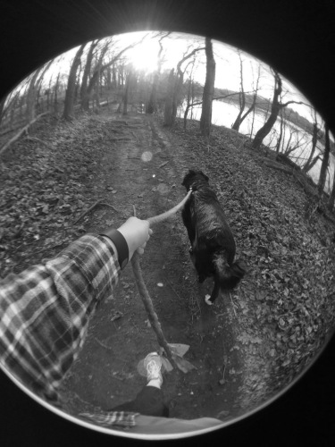 One of Schrott's many walks with Ollie | Photo by Mary Schrott